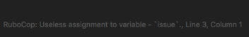 Screenshot of Sublime error for Ruby rescue
