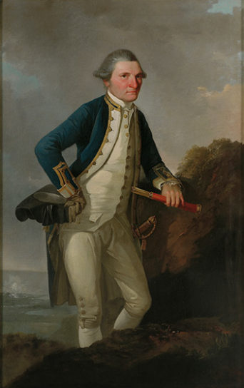 Portrait of Captain James Cook by John Webber. Museum of New Zealand Te Papa Tongarewa. No known copyright.