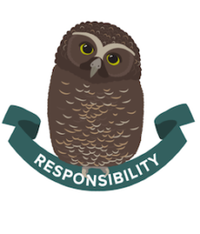 Ruru icon for Boost's core value of Responsibility.