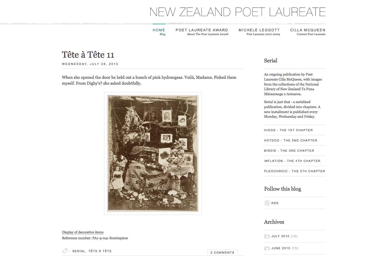 New Zealand Poet Laureate homepage