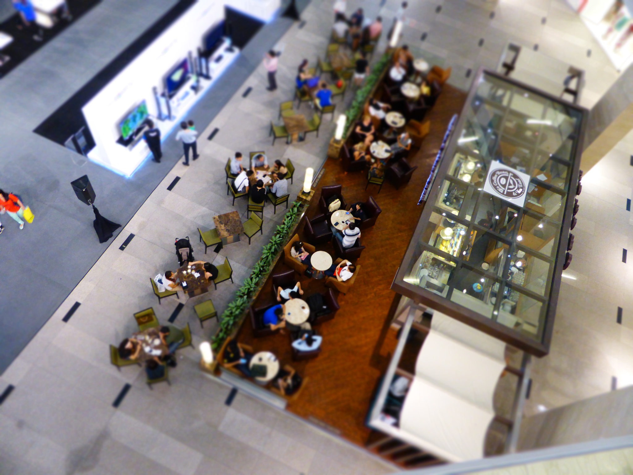 Customers seen from above in a mall. The pragmatic personas template gives you a usable view of your customers.