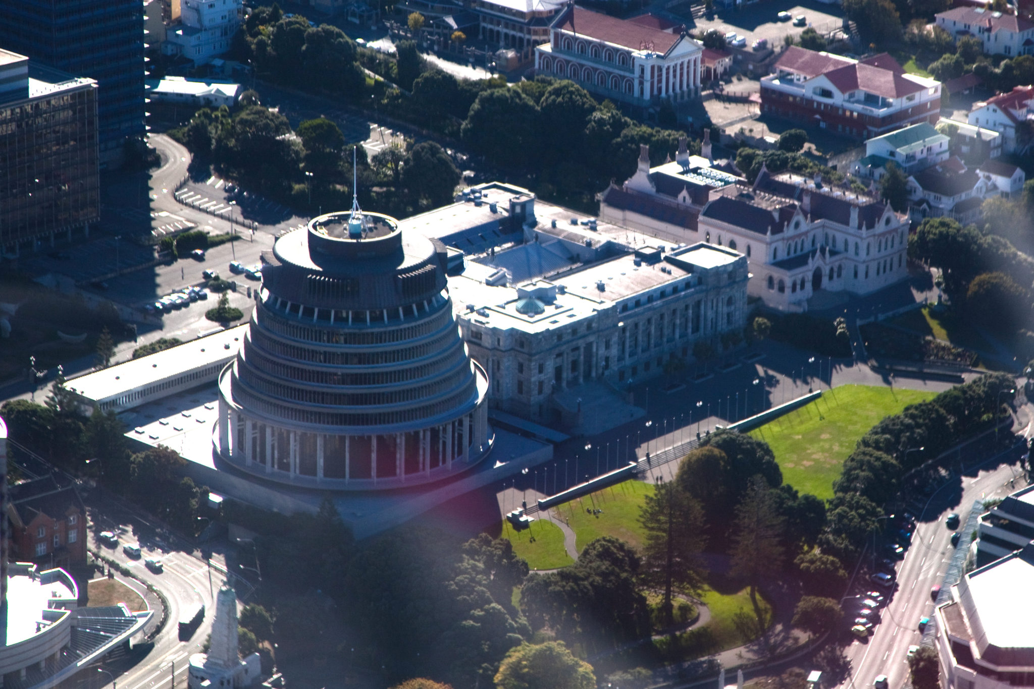 Parliament grounds from the air. Get a high level view of the Government consulting panel.