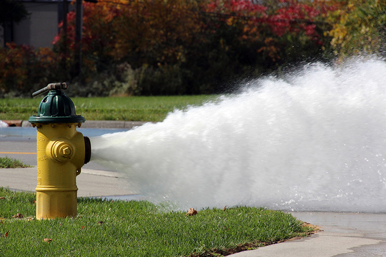 A fire hydrant gushes water. Writing a business blog you want to cut through the deluge of internet content.