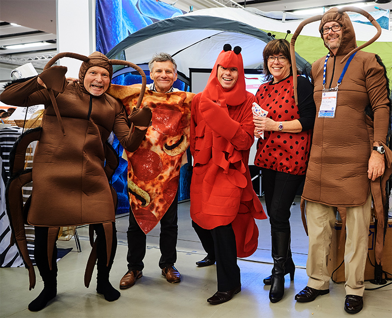 The GS1 New Zeland team dressed up as insects to promote the mobile apps at the conference.