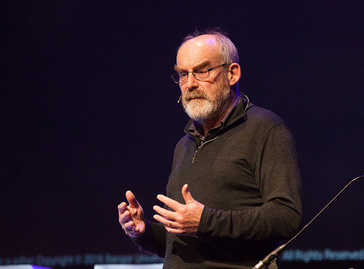 David Snowden speaking at UX Brighton 2016 (cropped), by https://www.flickr.com/photos/uxbrighton/ (CC BY-SA 2.0).