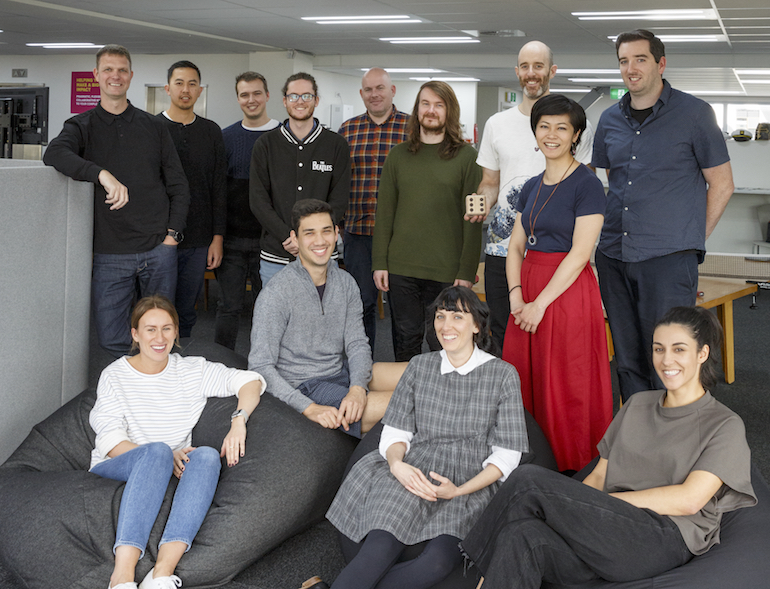Photo of staff at Boost from the NZBusiness article on our purpose-led-culture.