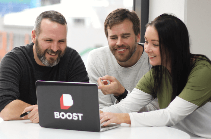 A Product Owner and developers check out the impact of the latest iteration of their software. The ideal Boost project is impacts-focused, addresses a complex problem and has a dedicated Product Owner.