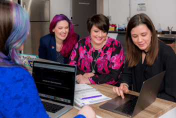 A team undertaking co-design for digital services. Photo by Kylie Haulk on Unsplash.