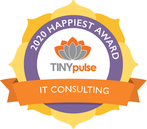 TinyPulse Happiest IT Workplace Award badge